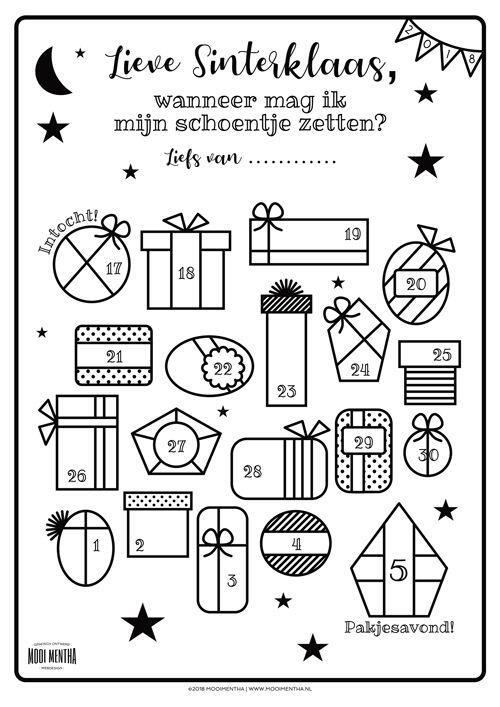 Geliefde Gratis download: de 2018 Schoenzetkalender • MooiMentha! #BF85