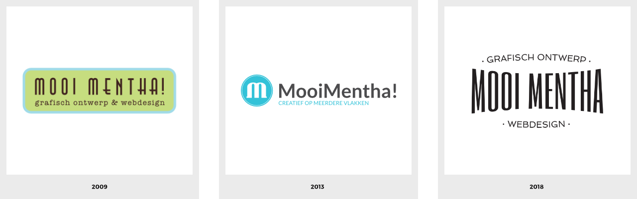 Evolutie logo MooiMentha