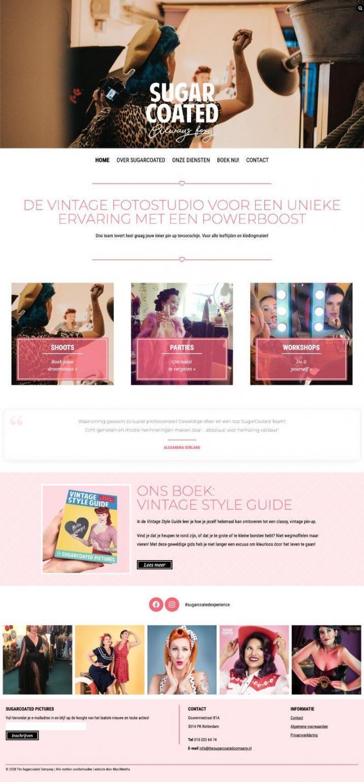 Sugarcoated homepage