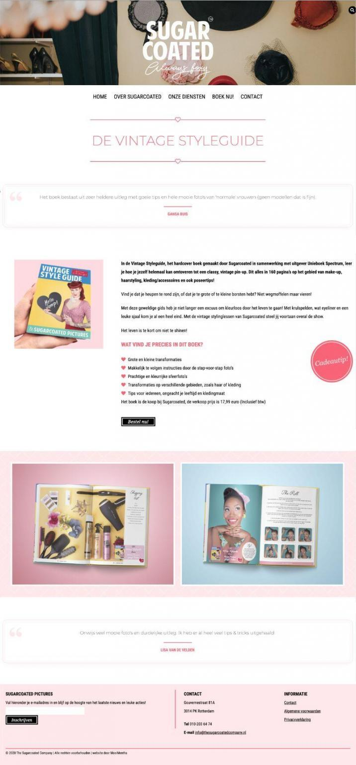Sugarcoated Vintage Styleguide page